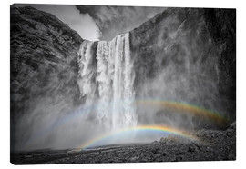 Canvastavla  ICELAND Skogafoss with a double rainbow - Melanie Viola