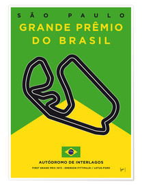 Premiumposter F1 Interlagos Race Track
