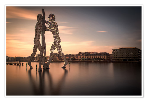 Premiumposter Molecule Men river Spree