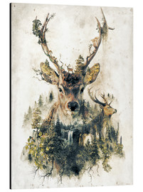 Aluminiumtavla  Deer nature, surrealism - Barrett Biggers