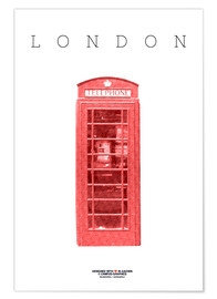 Premiumposter City of London Telephone Booth