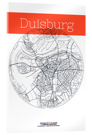Akrylglastavla  Duisburg map circle - campus graphics