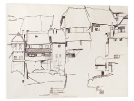 PVC-tavla  Old houses in Krumau - Egon Schiele