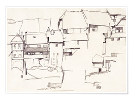 Premiumposter  Old houses in Krumau - Egon Schiele