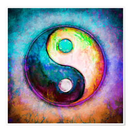 Premiumposter Yin Yang - Colorful Painting 5