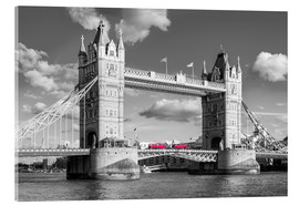 Akrylglastavla  London, Tower Bridge Black and White - rclassen