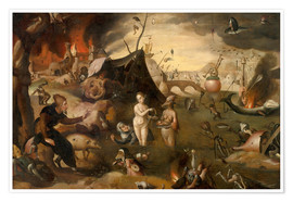 Premiumposter  The Temptations of St. Anthony - Hieronymus Bosch