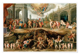 Premiumposter  Mankind's Eternal Dilemma - The Choice Between Virtue and Vice - Frans Francken II