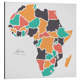 Aluminiumtavla  Africa map modern abstract with round shapes - Ingo Menhard