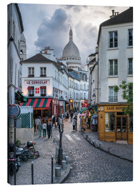 Canvastavla  Streets of Montmartre and Sacre Coeur - Jan Christopher Becke