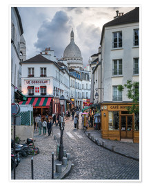 Premiumposter Streets of Montmartre and Sacre Coeur
