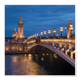 Premiumposter Les Invalides and Pont Alexandre III in Paris, France