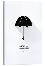 Canvastavla  Umbrella - The sun will always shine after the rain. - Black Sign Artwork