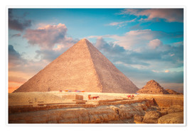 Premiumposter  great pyramid of Giza in Egypt