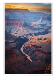 Premiumposter  Amazing Sunrise of the Grand Canyon