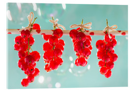 Akrylglastavla  Red currants full - K&L Food Style