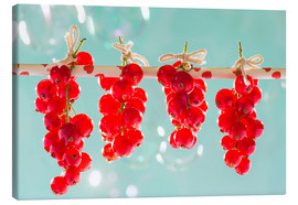 Canvastavla  Red currants full - K&L Food Style