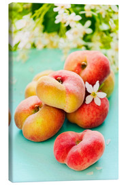 Canvastavla  Summer peaches - K&L Food Style
