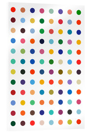 Akrylglastavla  Polkadots in colour - THE USUAL DESIGNERS