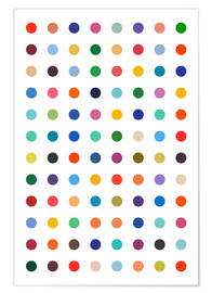 Premiumposter  Damien Tribute - Colourful polkadots - THE USUAL DESIGNERS