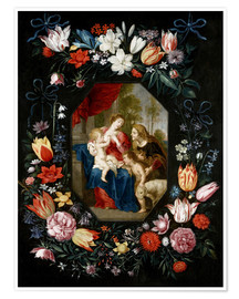 Premiumposter  The Virgin Mary and the Christ Child - Jan Brueghel d.J.