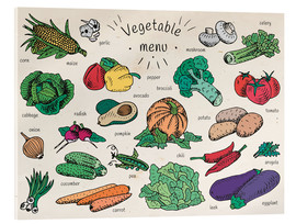 Akrylglastavla  Little vegetable menu