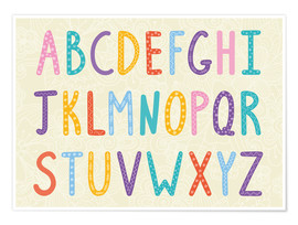 Poster  Colorful ABC letters - Typobox