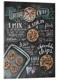 Akrylglastavla  Chocolate chip cookies recept - Lily & Val