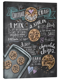 Canvastavla  Chocolate chip cookies recept - Lily & Val