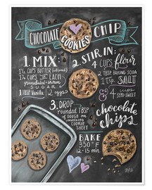 Poster  Chocolate chip cookies recept - Lily & Val