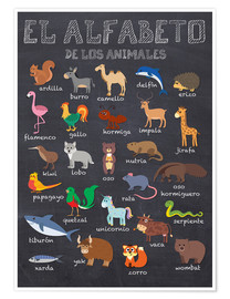 Poster Alphabet of Animals - Spanish