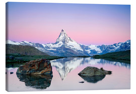 Canvastavla  Matterhorn at Sunrise - Dieter Meyrl