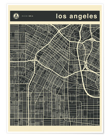 Premiumposter Los Angeles City map