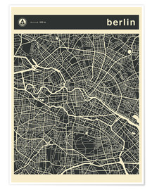 Premiumposter  Berlin City Map - Jazzberry Blue