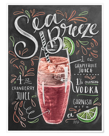 Premiumposter  Sea Breeze cocktail recept - Lily & Val