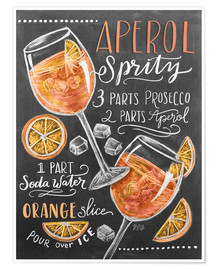 Poster  Aperol Spritz recept - Lily & Val