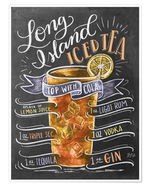 Poster  Long Island Ice Tea recept - Lily & Val
