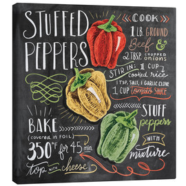 Canvastavla  Stuffed peppers recept - Lily & Val