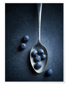 Premiumposter Blueberries still life
