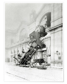 Premiumposter  Train accident at the Gare Montparnasse in Paris on 22nd October 1895