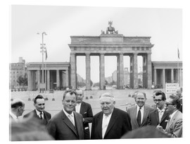 Akrylglastavla  Ludwig Erhard and Willy Brandt