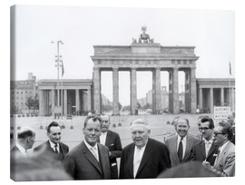 Canvastavla  Ludwig Erhard and Willy Brandt