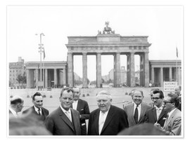 Premiumposter  Ludwig Erhard and Willy Brandt