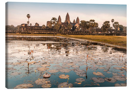 Canvastavla  Angkor Wat at sunset