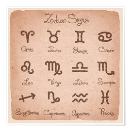 Premiumposter  Zodiac signs english