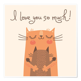 Premiumposter  Cats love - Kidz Collection