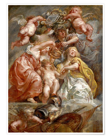 Premiumposter  The Union of England and Scotland - Peter Paul Rubens