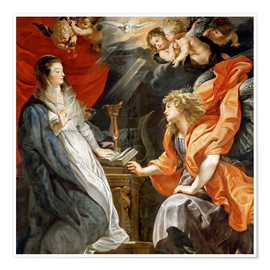 Premiumposter Annunciation to Mary