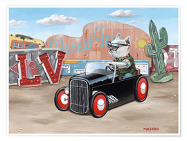 Premiumposter Las Vegas Hot Rod Frenchie