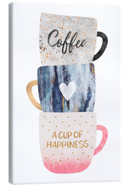 Canvas  A cup of happiness - Elisabeth Fredriksson